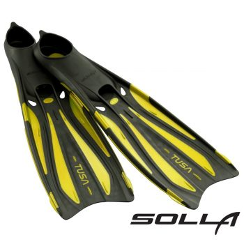 Medium Blue TUSA FF-23 Solla Full Foot Scuba Diving Fins